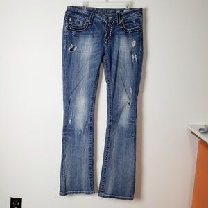 Miss Me Distressed Bootcut Jean's Size 29